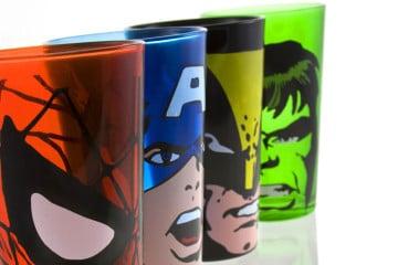 I super bicchieri Marvel – primo set
