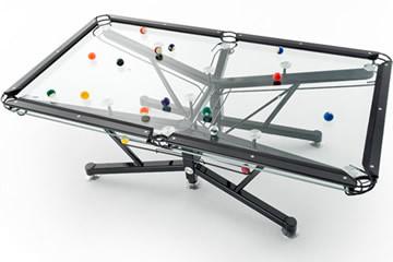 Nottage Design G-1, il tavolo da biliardo di vetro