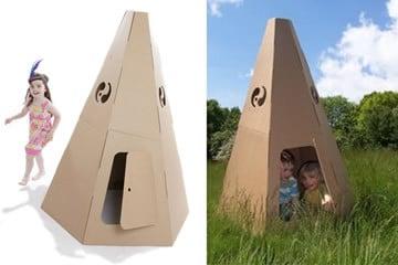 Tenda Indiana di cartone