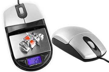 Mouse Ottico con bilancia digitale