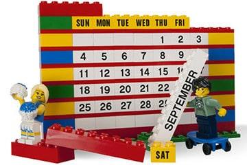 Brick Calendar, il calendario di mattoncini LEGO