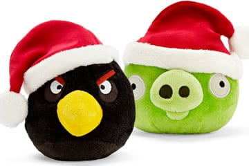 I peluche natalizi di Angry Birds