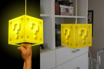 La lampada interattiva di Super Mario