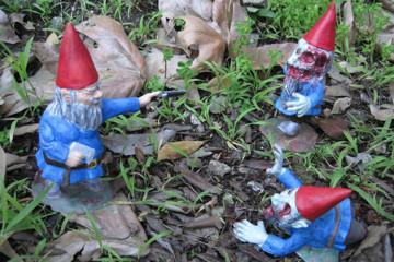 I nani da giardino zombie