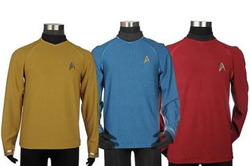 I costumi ufficiali del film di Star Trek