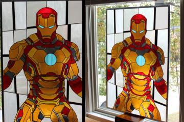 La vetrata dedicata ad Iron Man