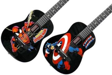 Le chitarre acustiche della Marvel per bambini