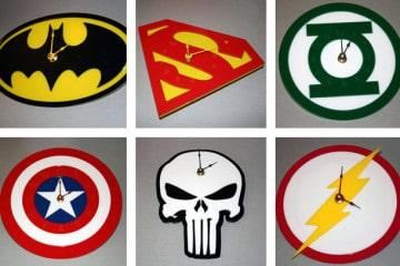 Gli orologi da parete supereroici