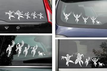 Gli adesivi per auto delle famiglie Marvel