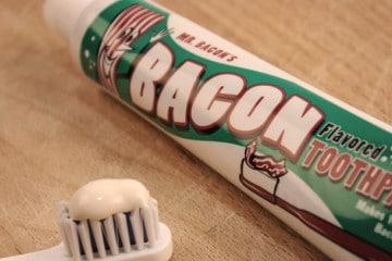 Il dentifricio gusto Bacon
