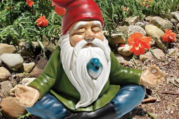 Lo gnomo zen da giardino