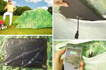 La tenda ad energia solare