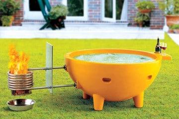 La vasca da esterno riscaldata
