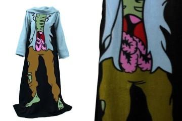 La coperta con le maniche zombie