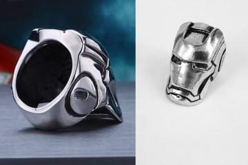 L'anello elmo di Iron Man