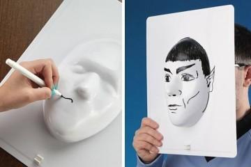 La tavola 3D per disegnare i ritratti
