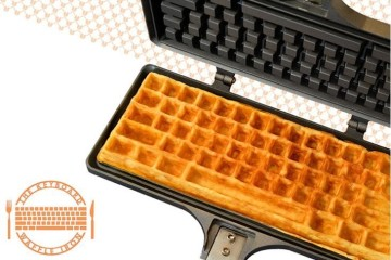 Waffle a forma di tastiera