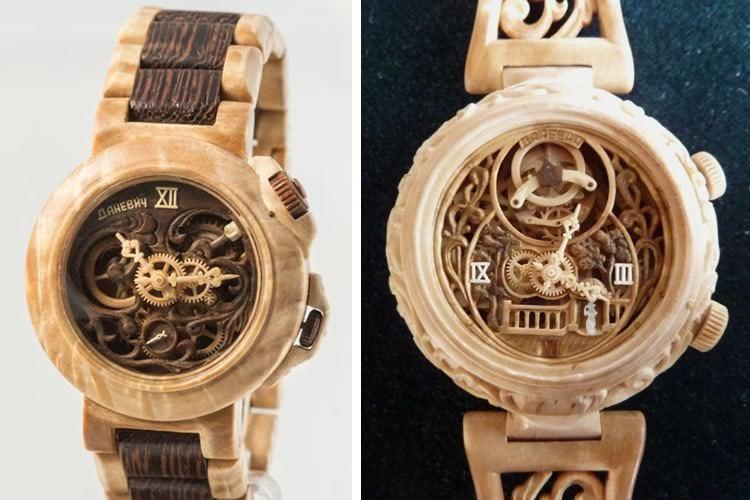nuove varietà forma elegante a piedi a Gli orologi di legno al 100%