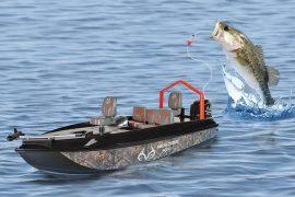 La barca RC da pesca
