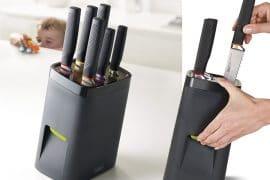 Ceppo di sicurezza per coltelli