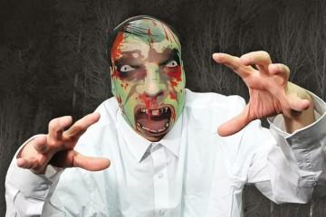 Maschera tascabile Zombie