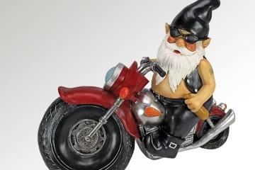 Gnomo biker da giardino