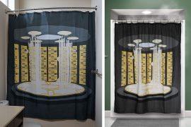 La tenda da doccia con teletrasporto
