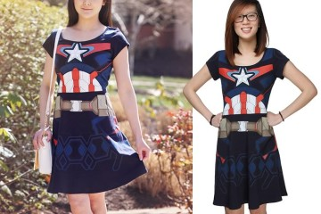 Il vestito da donna Capitan America