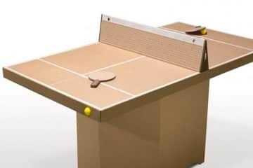 Tavolo da ping pong in cartone