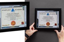 Il diploma della Starfleet Accademy
