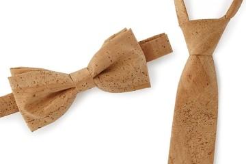 Farfallino e cravatta di sughero