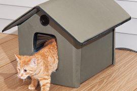 Cuccia riscaldata per gatti