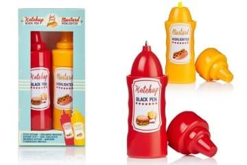 Ketchup e senape da scrivania
