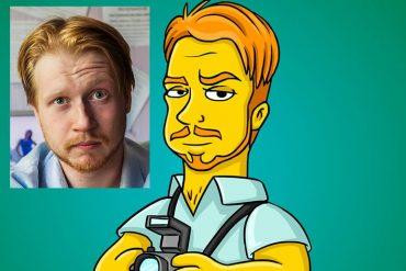 Ritratto in stile Simpson