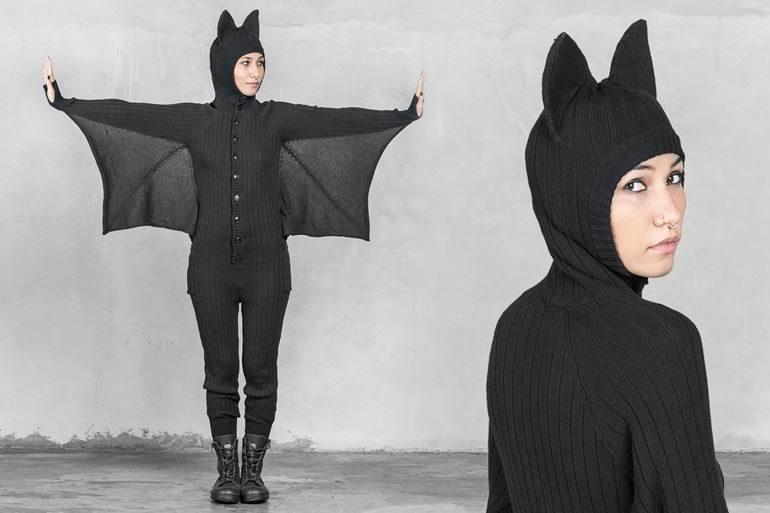 Adulti Donna Halloween Pipistrello Stile Stretto Costume Accessorio