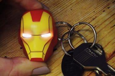 Portachiavi LED di Iron Man