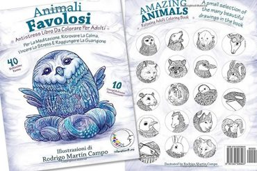 Libro da colorare: Animali Favolosi