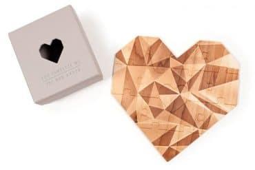 Puzzle cuore in legno