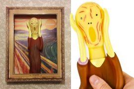 Pupazzo di gomma Urlo di Munch