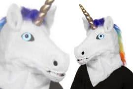 Maschera Unicorno parlante