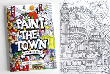 Libro da colorare Paint the town