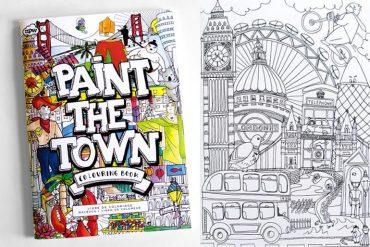 Libro da colorare Paint the town