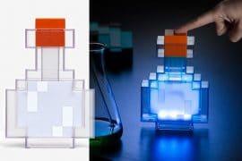 Lampada pozione 8-bit di Minecraft