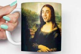 Mug Nicolas Cage-Gioconda