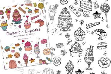Libro da colorare Dessert e Cupcake
