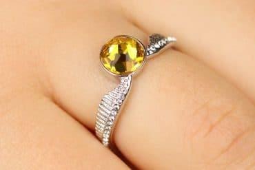 Anello Boccino d'Oro con cristalli Swarovski