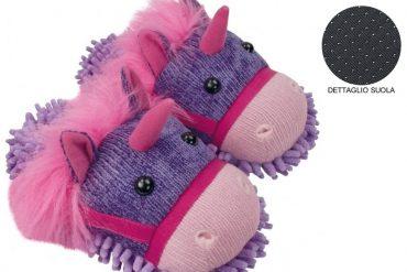 Pantofole Fuzzy Unicorno