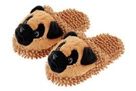 Pantofole Fuzzy Cane