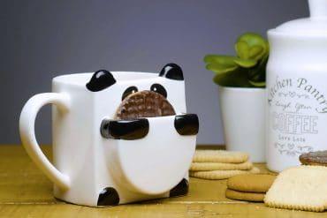 Tazza panda con porta-biscotti