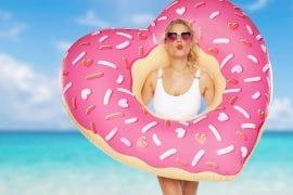 Ciambella Donut a forma di cuore